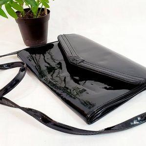 Black Patent Leather Clutch Shoulder Bag Versitile